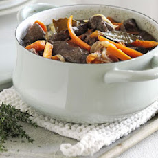 Beef With Red Wine & Carrots