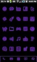 Screenshot of GloWorks Purple ADW Theme