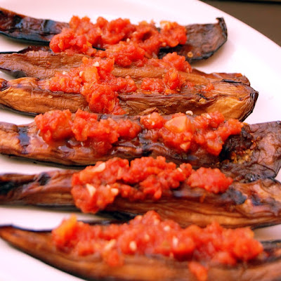 Greek Marinated Eggplant with Marinara Sauce