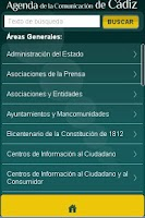 Screenshot of Agenda Comunicación de Cádiz