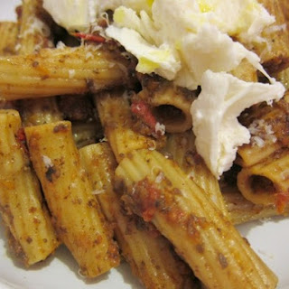 Rigatoni with Mushroom Ragu, Fresh Mozzarella, and Truffle