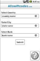 Screenshot of All Swift Codes