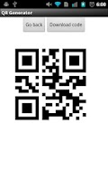 Screenshot of QR generator