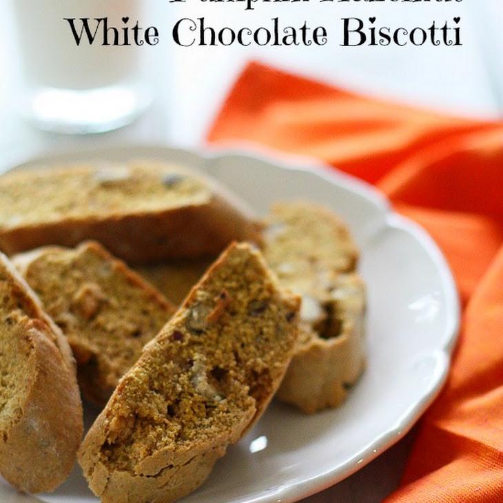 Pumpkin Hazelnut White Chocolate Biscotti