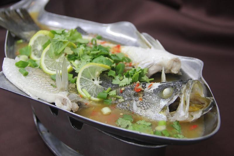 Steam fish in lime sauce thai food restaurant malaysia for Thai fish sauce