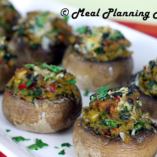 Spinach 'n Veggie Stuffed Baby 'Bellas