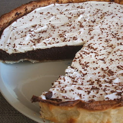 Chocolate Pie Topped With Chantilly