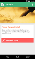 Screenshot of Tanda Tangan Digital