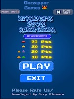 Screenshot of Invaders from Androidia