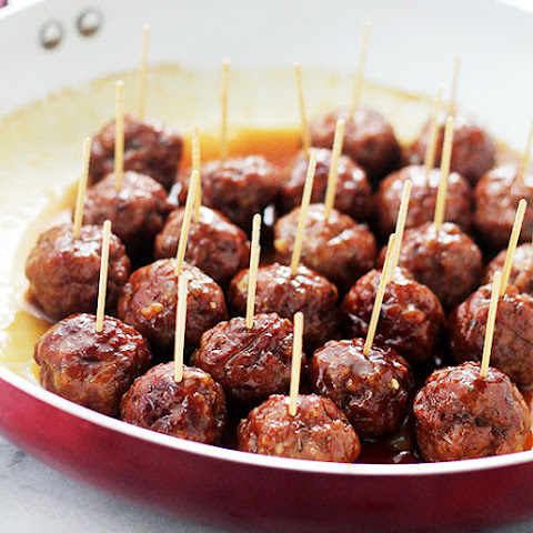 Brown Sugar-Glazed Turkey Meatballs