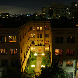 by Andy Chinn - Buildings & Architecture Office Buildings & Hotels ( los angeles, night, dusk )
