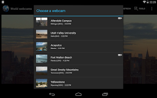 Screenshot of World Webcams