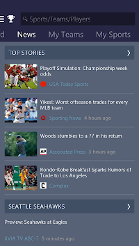 MSN Sports - Scores & Schedule APK screenshot thumbnail 2