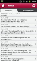 Screenshot of ProWein App