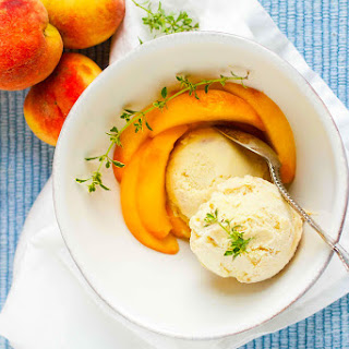 Coconut & Peach Ice Cream