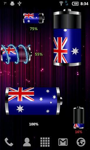 澳大利亞 - 國旗電池Widge