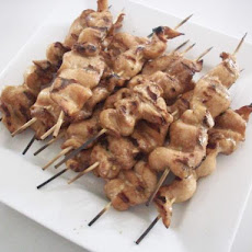 Grilled Chicken Satays With Peanut Sauce