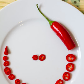 Red Hot Smilling Pepper by Paula Serrão - Food & Drink Ingredients ( red, smilling, hot, pepper )
