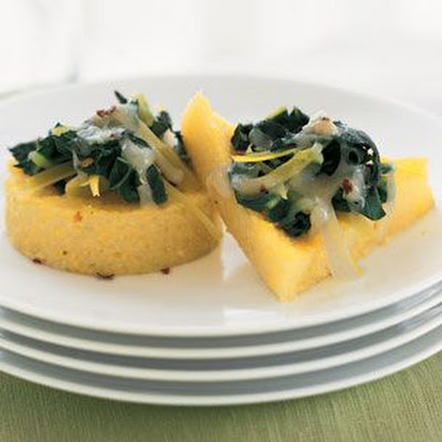 Polenta Galettes with Leek & Swiss Chard