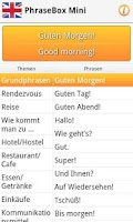 Screenshot of Phrasebook English (GB)