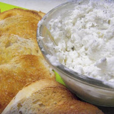 Homemade Herbed Chevre Spread With Grilled Crostini