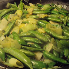 Leeks With Sugar Snap Peas