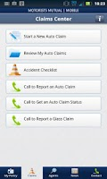 Screenshot of Motorists Mutual Mobile