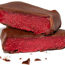 Chocolate-Dipped Raspberry Sorbet Bars