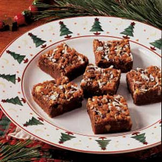 Fudgy Toffee Bars