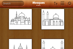 Screenshot of Islamic Coloring Book