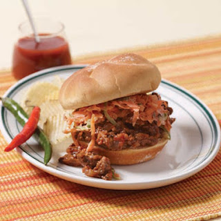 Sloppy Joes with Carrot-Jalapeño Slaw