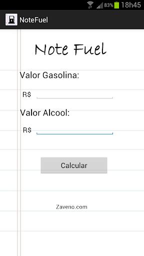 FUEL NOTE - Etanol x Gasolina