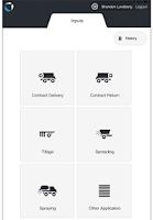 Screenshot of Conservis Tasks - Inputs