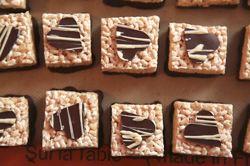 Bourbon Caramel Rice Crispy Treats with Dark Chocolate (gluten free ...