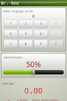 Screenshot of Mr. Red percentage calculator