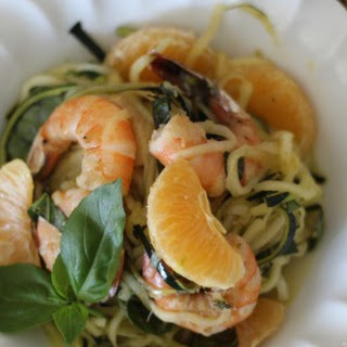 Cold Citrus Shrimp Zoodle Bowl