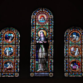 St Elisabeth by Sámuel Zalányi - Artistic Objects Glass ( hungary, window, cathedra, dom, szeged, stained glass,  )