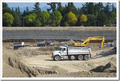 Construction on Microsoft Building 83