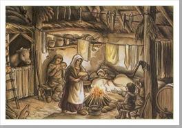 Campesinos en su hogar