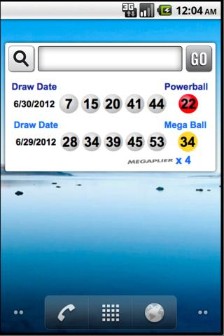 National Lotto Results Widget