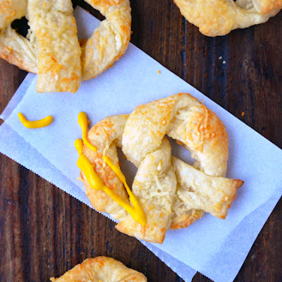 Cheesy Puff Pastry Pretzels