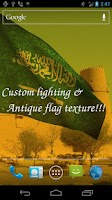 Screenshot of 3D Saudi Arabia Flag LWP