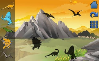 Screenshot of Dinosaur Peg Puzzle Free