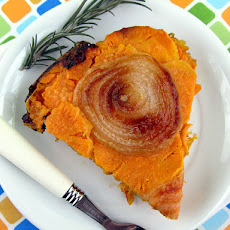 Upside Down Sweet Potato and Onion Tart