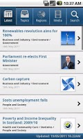 Screenshot of Scottish Government News