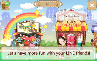 Screenshot of LINE I Love Coffee