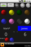 Screenshot of Snooker Scoreboard Lite