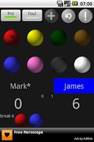 Screenshot of Snooker Scoreboard Lite
