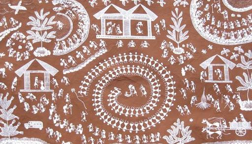 Warli paint-Tapra Dance