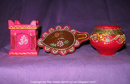 Diya Decoration | Calligraphy | Art | Drawing | Painting | Reshmi ...